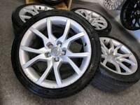 "18"" Genuine Audi A5 Speedline Alloy Wheels & Tyres 5X112 VW Caddy"