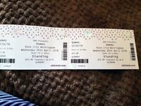 2x Gomez tickets for Rock City - Weds 24th April