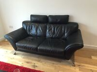 Amazing condition. Pure leather. Designer sofa and arm chair