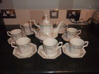 Eternal Beau tea set and coffee set. Excellent condition. Sets can be sold separately.