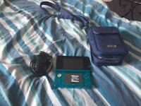 Nintendo 3ds with charger carry case and mario