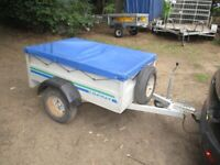 CONWAY 5-0 X 3-4 GALV STEEL DROPTAIL GOODS TRAILER.......