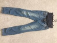 Maternity overbump jeans - New Look size 10
