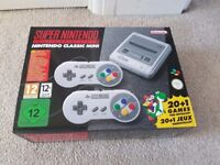 New in box SNES Mini Classic