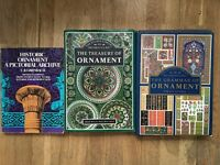 Treasury of Ornament Pattern in the Decorative Arts plus 2 more books