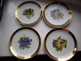Set of 4 plates, vintage, perfect condition, very pretty