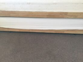 Truckle single bed with mattress