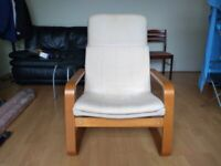 PELLO Armchair - Holmby Natural Ikea - In Excellent Condition