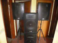 dj gear for sale. Two systems, one complete.