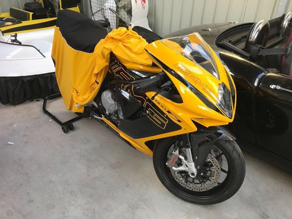 2015 mv agusta f3 800 custom amg yellow paint job very low mileage