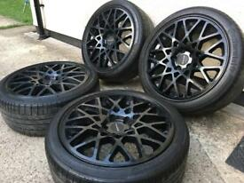 """18""""dare rotiform style alloy wheels with tyres 5x112"""