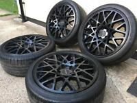 "18""dare rotiform style alloy wheels with tyres 5x112"