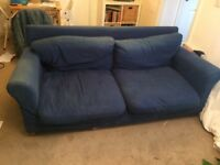 Old blue habitat sofa FREE
