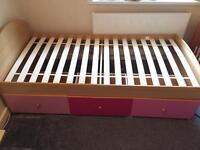Kidspace Metro storage bed in pink