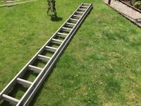 Professional builders aluminum ladder two sections.