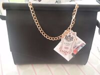 LYDC BLACK ENVELOPE CLOSURE BAG BRAND NEW WITH TAGS