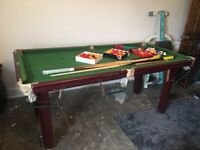 6ft by 3ft Riley Pool Table and accessories