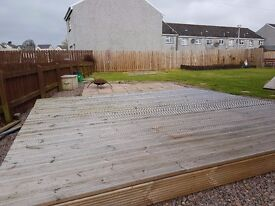 Decking boards and frame