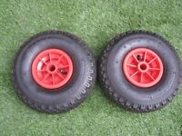 "Spare Wheel - 10"" with Pnuematic Tyre 260X85 ideal for wheelbarrow, go-kart, trolley, sack truck"
