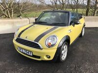 10 MINI ONE 1.6 CONVERTIBLE 6 SPEED ++ LONG MOT, AIRCON & ONLY INS GP 6 ++