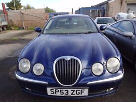 *P/EX TO CLEAR* JAGUAR S-TYPE 3.0 AUTO LOW MILEAGE, FULL SERVICE HISTORY, MOT EXPIRED, STARTS/DRIVES