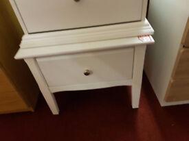 Avignon 1 drawer white bedside