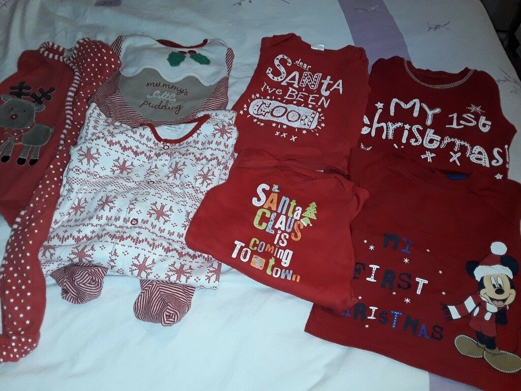 Baby Boy's 1st Christmas Clothes Bundle,Size 6-9Months,Great Condition