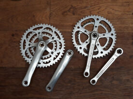 New Stronglight triple chainset with cranks - fitted but not used, plus used double