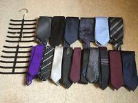 16 ties plus two tie hangers