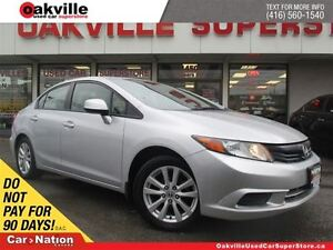 2012 Honda Civic EX | ACCIDENT FREE | 5 SPD M/T | SUNROOF | ONE
