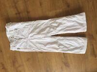 Girls Ski trousers age 12, white Poivre Blanc