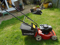 Mountfield Petrol Lawnmower In working order with grass box