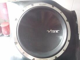 Vibe black 12inch subs and amp