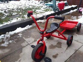 Galt Red Trike & Trailor