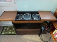 Brown finish hostess trolley