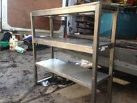 Stainless steel industrial kitchen shelving 3'x3'x1'