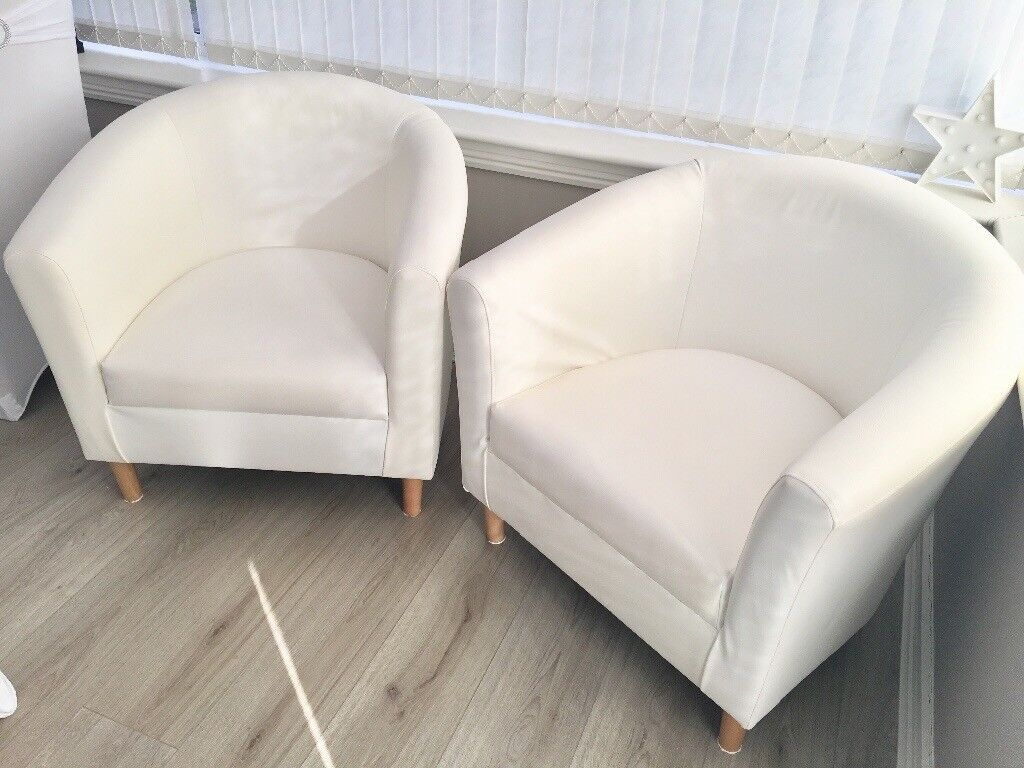 Phenomenal Como Descargar White Leather Tub Chairs For Sale 40 Each Pabps2019 Chair Design Images Pabps2019Com