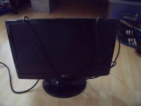 Black LG PC monitor