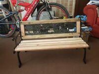 Kids cast iron garden bench