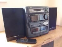 JVC Compact Component System MX-D301T + Remote + Matching Pair Mordaunt Short MS 3.10 Speakers: VGC