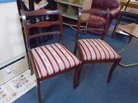 2 retro hall chairs.