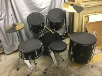Drum Kit - full size with extras