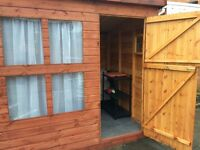 8ft x6ft quality wooden shed or play house tong and groove construction