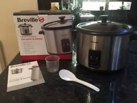Breville rice cooker and vegetable steamer, very good condition, 1.8L capacity