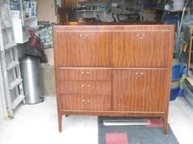 Rosewood Cabinet and occasional table in very good condition - ideal for the lounge