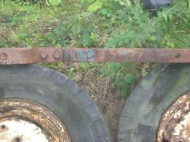 ford drawbar and 2 front wheels for ford 4000