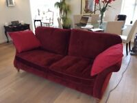 Two extra large ruby sofas purchased fro Arighi Bianchi fully scotchgarded