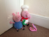Peppa Pig and George toys