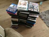 Blue rays and dads roughly 140 in total
