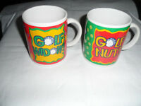 His & hers golf mugs